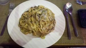 Tagliatelle Gorgonzola e Porcini