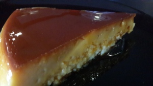 Close up on the flan
